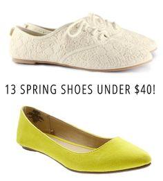 13 Fantastic Spring Shoes Under $40!