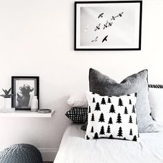 Scandinavian Tree cushion by Cotton & Thread styled by My Home Blog.
