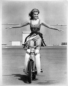 Ann Nargret on Bike