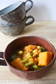 """Gypsy Soup is one of my favorites! I throw all the ingredients in the crock pot, and substitute pasilla peppers for bell peppers. As Mollie Katzen says, """"Orange vegetables and green vegetables are best friends"""" so any green veggie you like can work."""