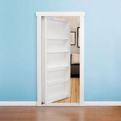 Murphy Door – 32-in. White Hidden Door Bookcase
