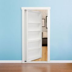 Murphy Door – 32-in. White Hidden Door Bookcase