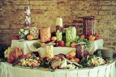 Catering display for fruit, veggie and cheese table