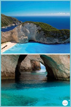 plage de navagio et les bule cave à Zante Destination Voyage, Magic Kingdom, Cave, Concept Art, Greece, Places To Visit, World, Nature, Outdoor