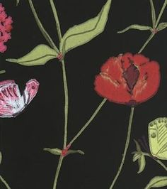 Christophe is a wallpaper that brings to mind an elegant, billowy summer meadow. The colours of the flowers are even more vivid thanks to the traditional printing technique.
