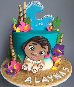 """28 Likes, 1 Comments - Hive Bakery (@hivebakery) on Instagram: """"Happy Birthday Alayna! There's just no telling how far you'll go! #Moana #Cake #CustomCakes…"""""""