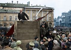 Lenin speaking to red army troops leaving for the front, Moscow, May Color Photographs from the Russian Revolution Russian Revolution 1917, Bolshevik Revolution, Vladimir Lenin, Joseph Stalin, Colorized Photos, Tsar Nicholas Ii, Mystery Of History, Red Army, Black And White Pictures
