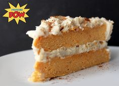 The Amazing Sweet Potato Protein Cake with Cinnamon Swirl Protein Icing! Macros per Serving (out of 3):  342kcals 47g protein 27g carbs 2g fat -