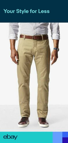 c203e5e68005 Dockers Alpha Khaki Trousers Mens Slim Tapered Mens Jeans Pants RRP: £70.00