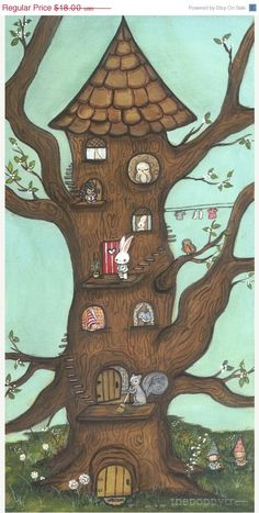 Animal Critter Tree House