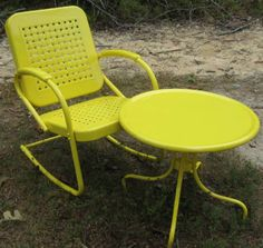 Brightly Colored Vintage Chairs