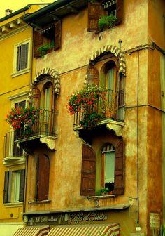 Renaissance Balconies - Verona, Italy