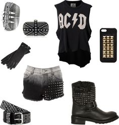"""""""Sem título #504"""" by larissaandrezzo on Polyvore. Lose the gloves and belt and im sold"""