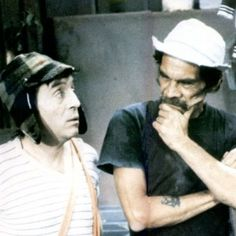 Two geniuses of humor, Roberto Gómez Bolaños (left) and Ramon Valdes (right), better known as Chavo del Ocho and Don Ramón.