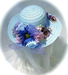 Girl's Easter Bonnet Tea Party Hats Flower Girl by Marcellefinery