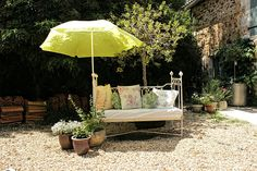 #sunnydays #summer #livingthelife #France @Cerises_Holiday Stone Farms, Farm Cottage, Rustic Charm, Sunny Days, Beams, Restoration, Patio, France, Contemporary