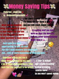 Geld sparen Tipps und Hacks - Life Hacks Every Girl Should Know - Money Life Hacks For School, Girl Life Hacks, Girls Life, Teenager Jobs, Making Money Teens, Jobs For Teens, Glow Up Tips, Teen Money, Baddie Tips