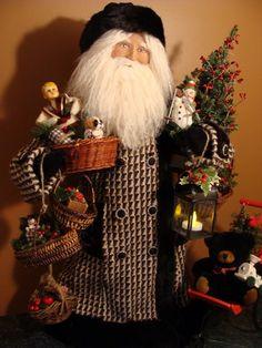 A Dickens Christmas Christmas Scenes, All Things Christmas, Christmas Ideas, Original Santa Claus, Black And White Coat, Santa Doll, Saint Nicholas, Old Fashioned Christmas, Father Christmas