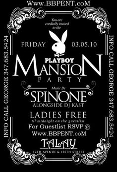 PLAYBOY MANSION PARTY TALAY