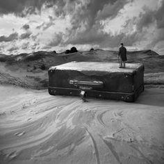 Digital art, Luggage by Dariusz Klimczak - Art Limited Photography For Sale, Artistic Photography, Creative Photography, Art Photography, What Dreams May Come, Foto Art, Photo Black, Cool Artwork, Surreal Artwork