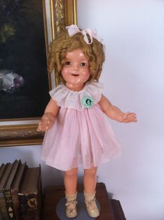 Vintage 1954 Ideal Shirley Temple Doll w/ Her Original Dress & Good Condition