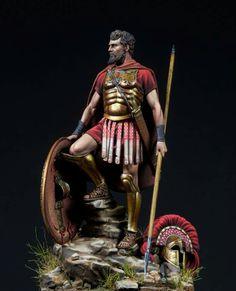 Classical Greece, Roman Warriors, Mycenae, Greek Warrior, Military Figures, Modern Sculpture, Fantasy Character Design, Ancient Greece, Roman Empire