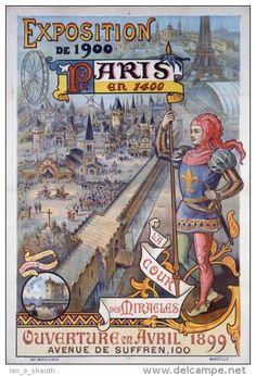 Exposition de 1900 - Paris en 1400 - La Cour des Miracles -