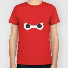 Baymax eyes looking out of his red mask. #bighero6 Kids, Womens & Mens Sizes on Society6 $20.00. http://society6.com/product/baymax-eyes_kids-tee#30=271