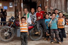 Happy Miao children in Guangxi Province, China (Sophie et Fred)