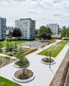 The Grand Ensemble Park – Alfortville by Espace Libre « Landscape Architecture Works   Landezine #urbanlandscapearchitecture