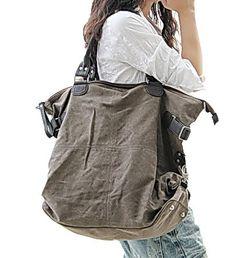 KOUKO™ Canvas vintage leather shoulder bag. por Kashiracollection