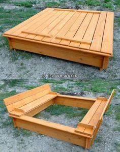 Wooden sandbox))