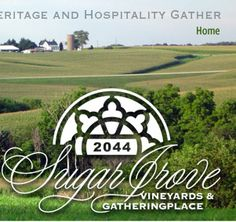 Sugar Grove Winery is a beautiful grange situated just West of Newton.  Lots of space and great vistas of the Iowa countryside.
