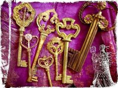 les clefs du chateau (the keys of the castle) Miss Clara, Paper Shoes, Le Talent, Under Lock And Key, Enchanted Doll, Old Keys, Key To Happiness, Paper Artist, Doll Maker