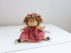 Button and Wooden Spool Dolls | Wooden doll / spool doll / primitive / by StitchyImpressions, $19.99