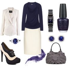 In the Navy, created by blue-star-marie on Polyvore