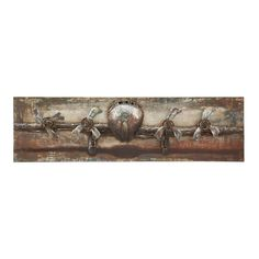 Found it at Wayfair - The Grand Metal Canvas in Brown