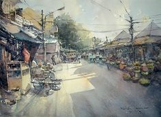 Hoi An Market (watercolor, 54x74 cm)