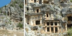 Myra is famous for its ancient Greek and Roman ruins, as well as the rock-cut tombs of the Lycian necropolis, including the Lion's Tomb, or Painted Tomb.