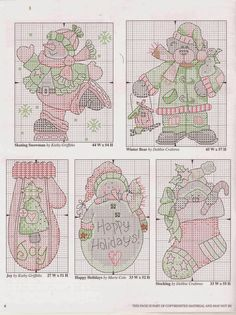 Вышивка крестом / Cross stitch : Дед Мороз