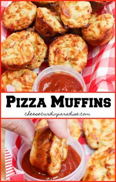 Pizza Muffins are packed with 2 cheeses, seasoning, and pepperoni! Perfect for a school lunch or a snack. Ready in under 30 minutes and a new family favorite recipe. Best Appetizers, Appetizer Recipes, Simple Appetizers, Appetizer Ideas, Snack Recipes, Pizza Recipes, Cooking Recipes, Pizza Snacks, Drink Recipes
