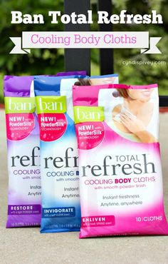 Ban Total Refresh Cooling Body Cloths. We keep these in the girls' bathroom at the gym. Everyone loves them...including my husband. Shhh, don't tell ;)