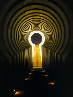 James Turrell, East Portal from Roden Crater Project, 1979– . Site-specific installation, Flagstaff, Arizona. Night view from the Alpha Tunnel © James Turrell. Photo: © Florian Holzherr