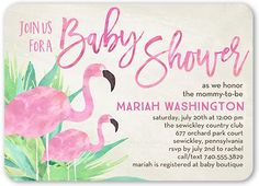 d24b4faa3a63 Baby Shower Invitation  Flamingo Mommy