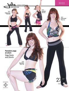 Jalie Yoga Pants and Shorts Sewing Pattern  by BonniesPatternShop