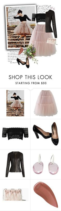 """Always a bridesmaid"" by jan31 ❤ liked on Polyvore featuring Chicwish, River Island, Miu Miu, The Row, Swarovski, Kate Spade, Lipstick Queen and vintage"