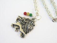 Ethiopian Lion Of Judah Necklace Rasta by Abundantearthworks, $12.45