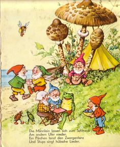 Gnome man& barge - Gnome man& barge – www. Art Vintage, Vintage Children's Books, Illustrator, Swedish Traditions, Old Children's Books, Arte Pop, Fairy Art, Old Postcards, Children's Book Illustration