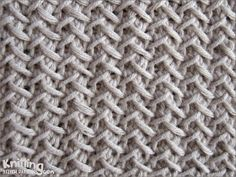 Fancy Herringbone is a great pattern for anything that needs to be very flat - it doesn't curl at all   |  knittingstitchpatterns.com