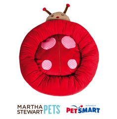 Plush Ladybug Bed by #MarthaStewartPets only at #PetSmart.